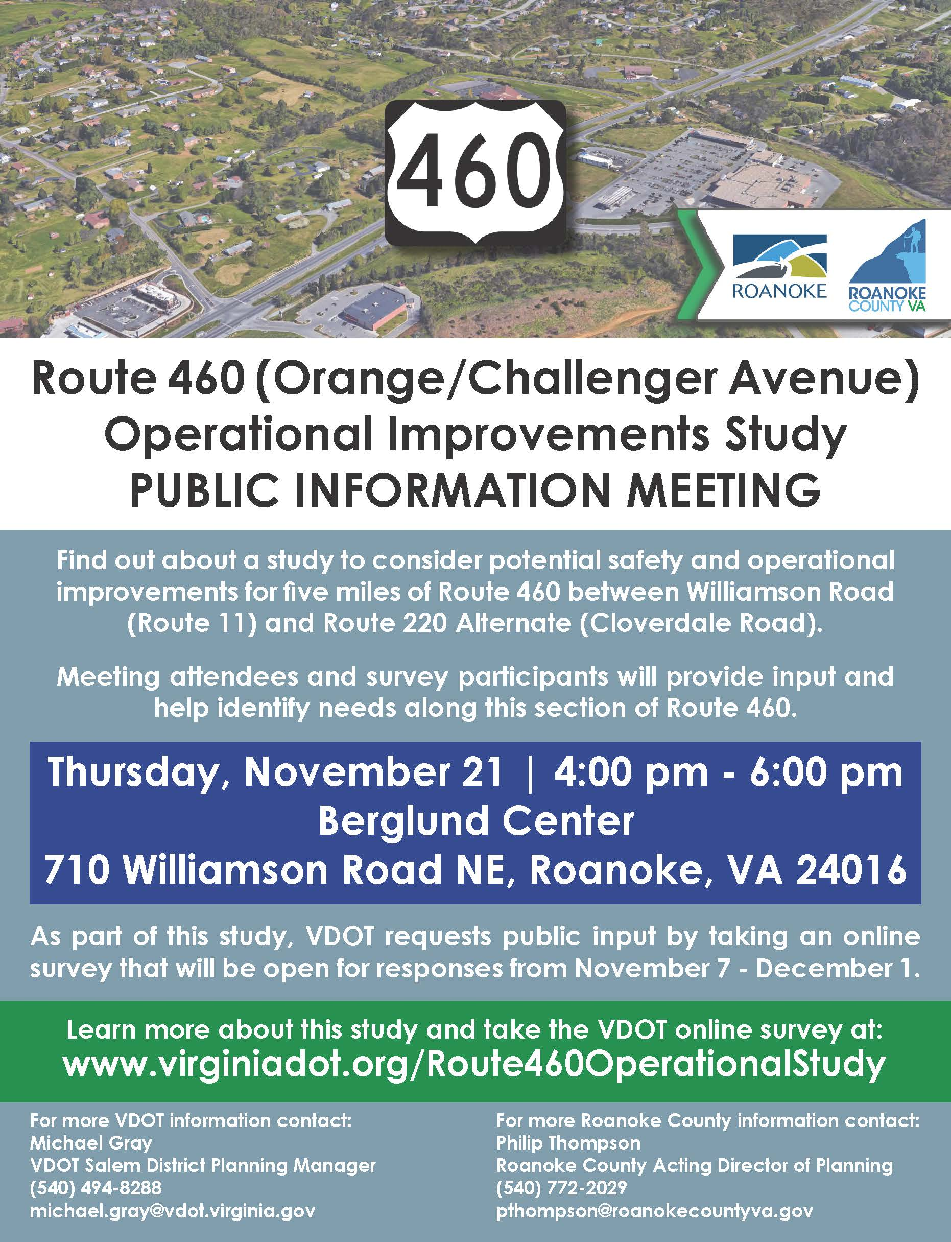 Final Route 460 Operational Improvements Study Public Information Meeting Mailer