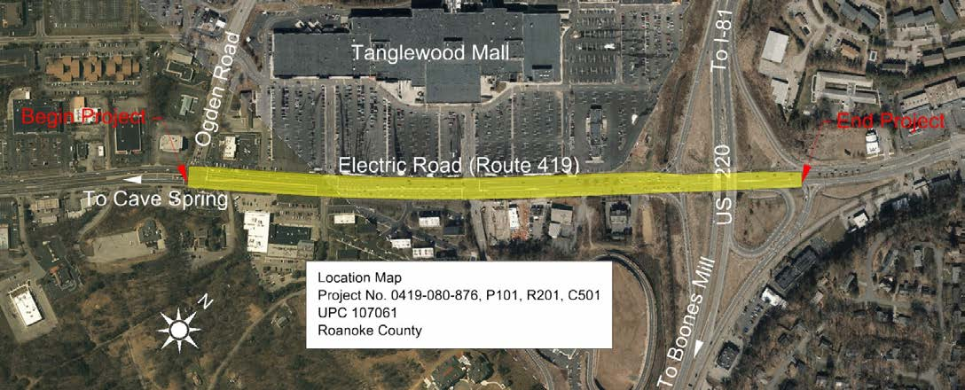 Route 419 Project Map