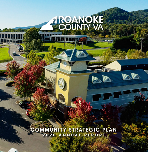 Roanoke County 2020 CSP Annual Report Cover Spotlight Graphic