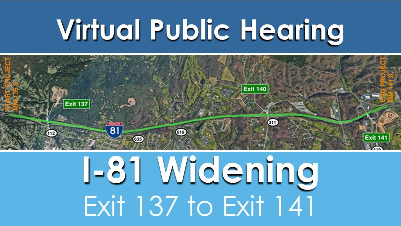 I 81 widening Graphics for Road Notice