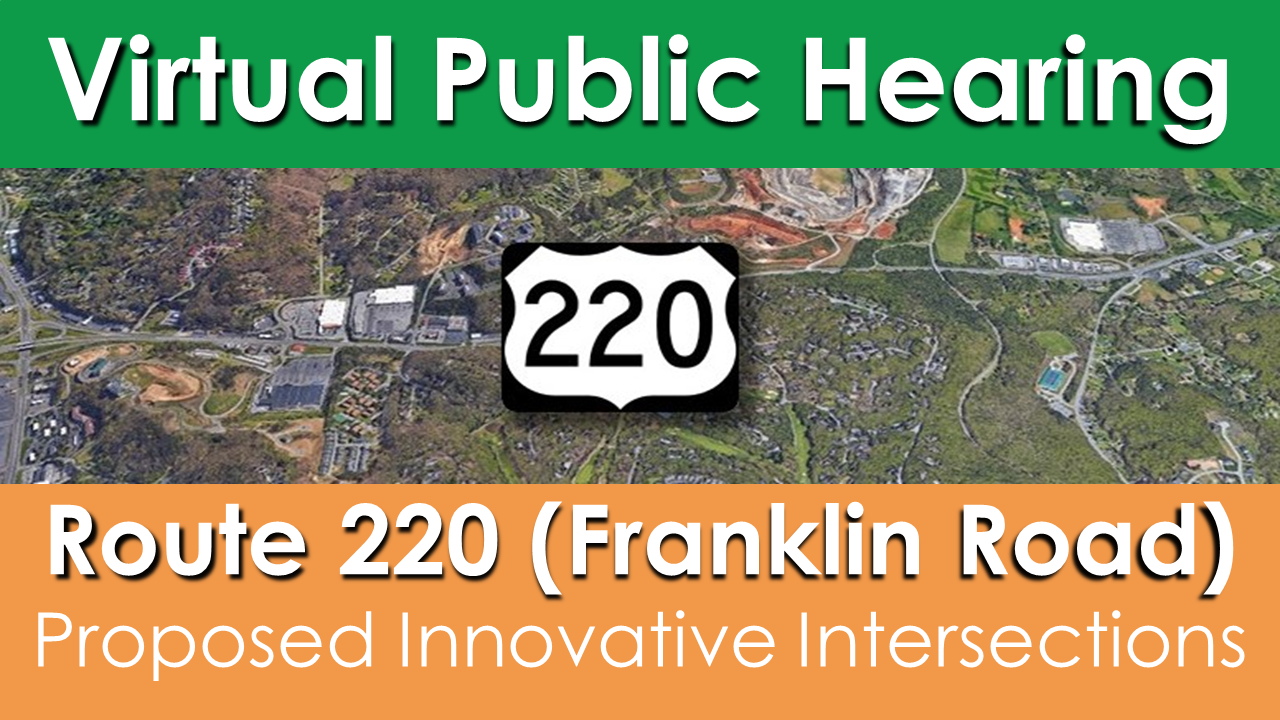 Route 220 Intersection Improvements public hearing graphic 220
