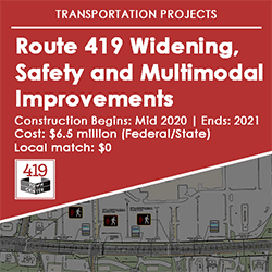 Small_Route 419 Widening, Safety and Multimodal Improvements