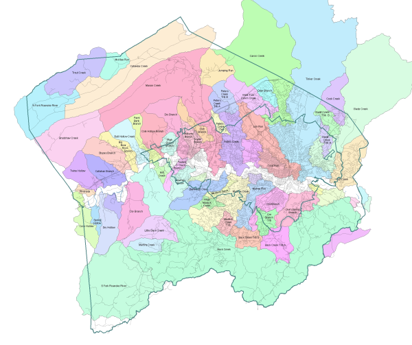 Roanoke County Watersheds
